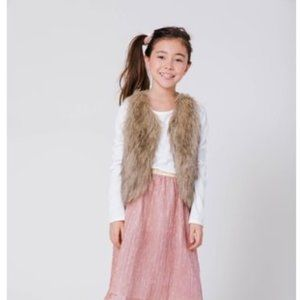 Wonder Nation Little Girl's Faux Fur Vest
